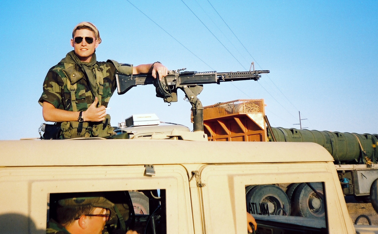 Happy Veterans Day - me and my m60 machine gun in the first Gulf War.