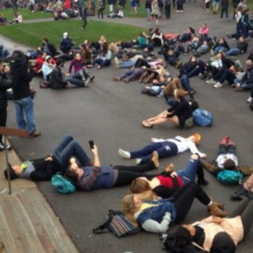 'This is a child's tactic': Mizzou-style protest spills over to Ithaca College [photos, Vine]