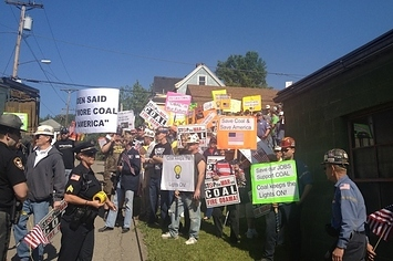 Coal Miners Protest Biden In Ohio