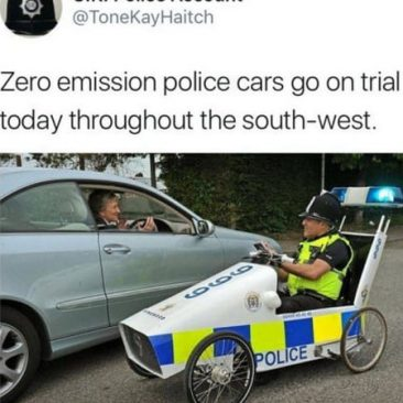 Zero Emission Police Cars Go On Trial Today...