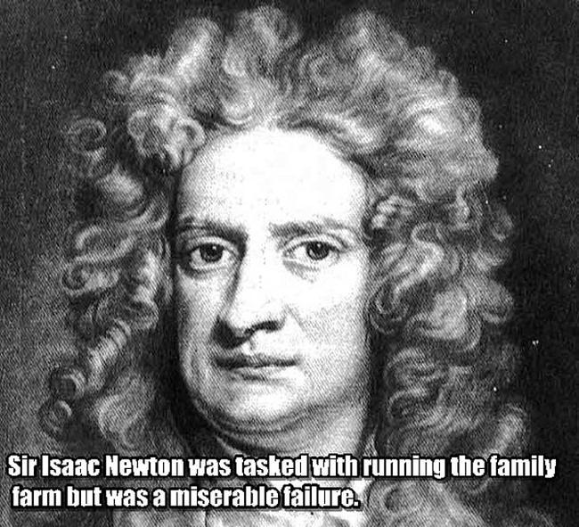 1.) Isaac Newton.