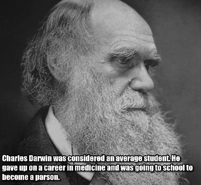 14.) Charles Darwin.